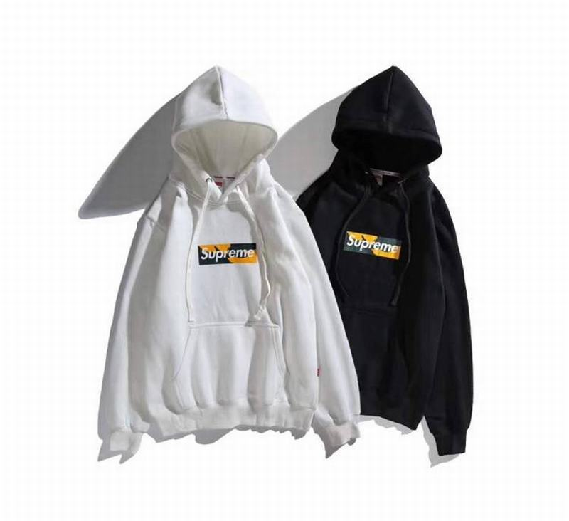 supreme 2 colors white black hoodie mid box logo