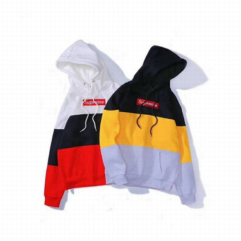 supreme 3 colors white red black yellow joint hoodie box logo