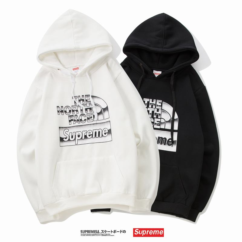 supreme x The North Face union 2 colors black white hoodie