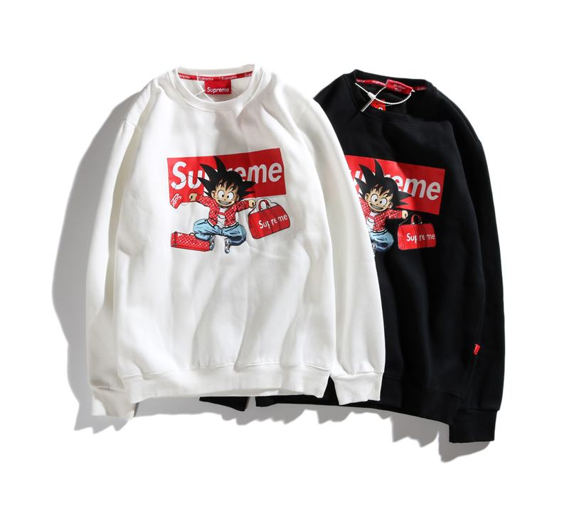 supreme 2 colors white black velvet long sleeve Wukong print box logo