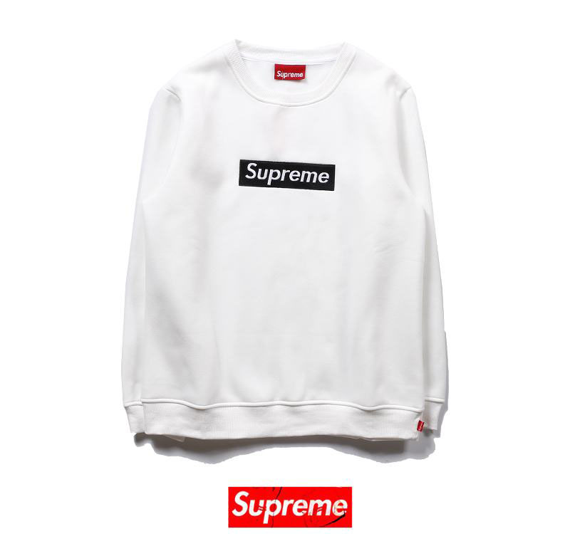 supreme 2 colors white black velvet long sleeve box logo