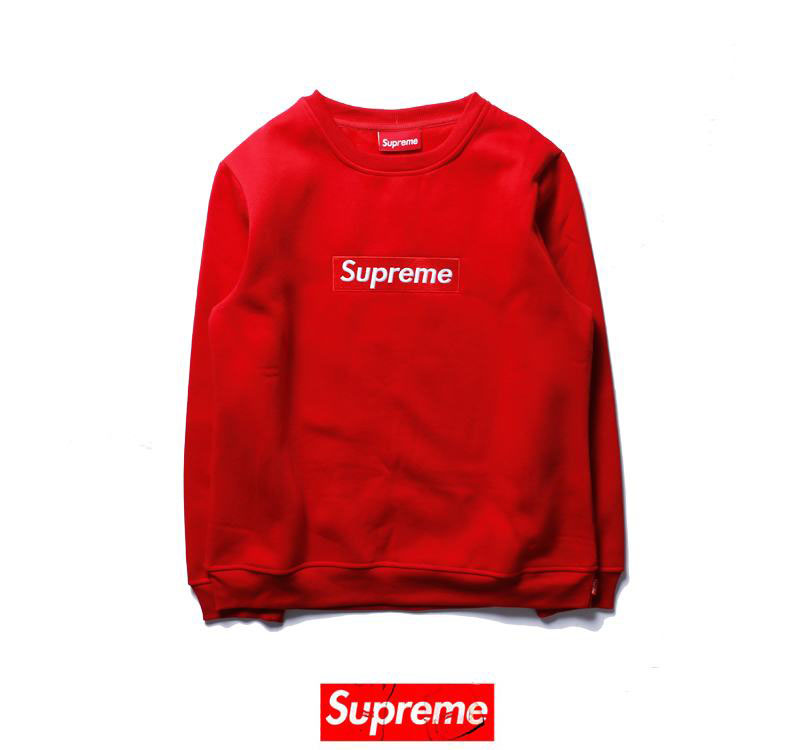 supreme 4 colors red white blue black long sleeve white letter logo