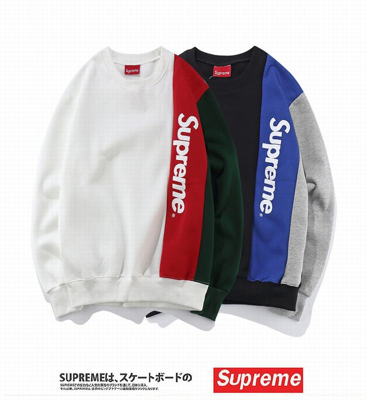 supreme joint colors white red black blue grey long sleeve big letter logo