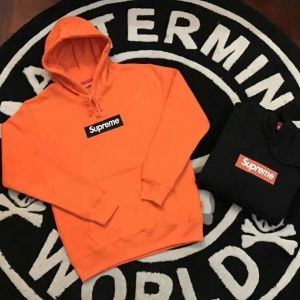 17ss Supreme & Vlone Box Logo Hooded Sweatshirt 2 Color