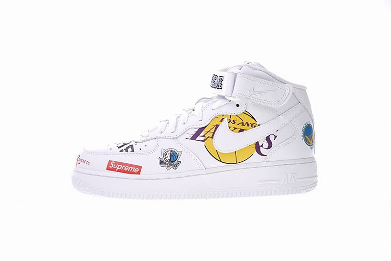 Supreme x NBA x Nike Air Force 1 AF1 White hig AQ8017-100