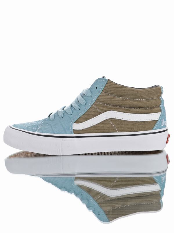 Supreme x Vans Sk8-Mid Pro Classic Mid Sport Light Blue Olive green VN0A347UPUI